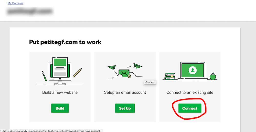 How to redirect domain on GoDaddy.com